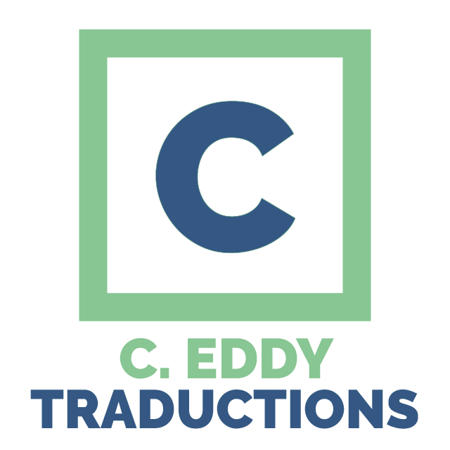 Logo for C. Eddy Traductions, legal translation business near Lille in the North of France